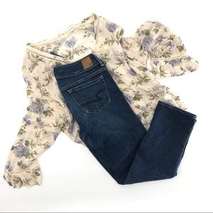 American Eagle size 6 artist jeans cropped